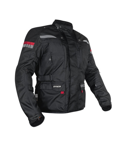 Rynox Stealth Evo 3 Riding Jacket (Level 2) Black, Riding Jackets, Rynox Gears, Moto Central