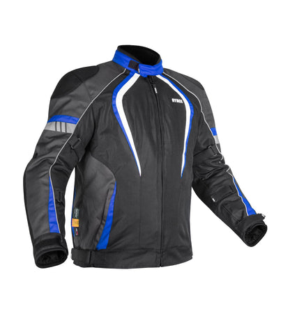 Rynox Tornado Pro 3 Black-Blue Riding Jacket, Riding Jackets, Rynox Gears, Moto Central