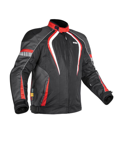 Rynox Tornado Pro 3 Black-Red Riding Jacket, Riding Jackets, Rynox Gears, Moto Central