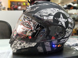 SMK Twister with Bluetooth Captain Matt Black Grey MA266, Full Face Helmets, SMK, Moto Central