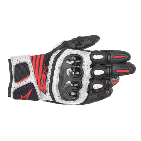 Alpinestars SP X AIR CARBON V2 Black White Fluro Red Gloves