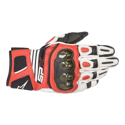 Alpinestars SP X AIR CARBON V2 White Black Bright Red Gloves