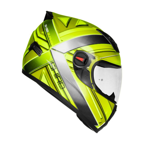 SHIRO SH-821 Bunker Gloss Fluorescent Yellow Helmet, Full Face Helmets, SHIRO, Moto Central
