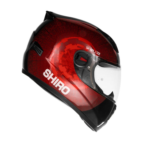 SHIRO SH-821 Code Gloss Red Helmet