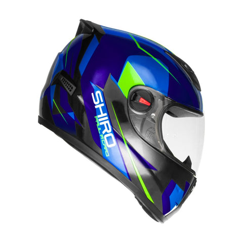 SHIRO SH-821 Paul Ricard Gloss Blue Helmet