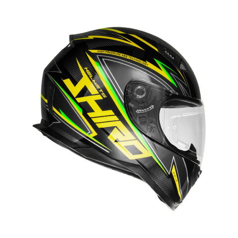 SHIRO SH-881 Atlanta Gloss Black Yellow Helmet