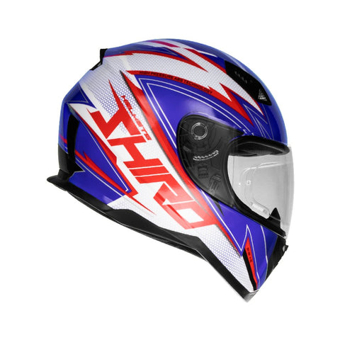 SHIRO SH-881 Atlanta Gloss Blue Red Helmet, Full Face Helmets, SHIRO, Moto Central