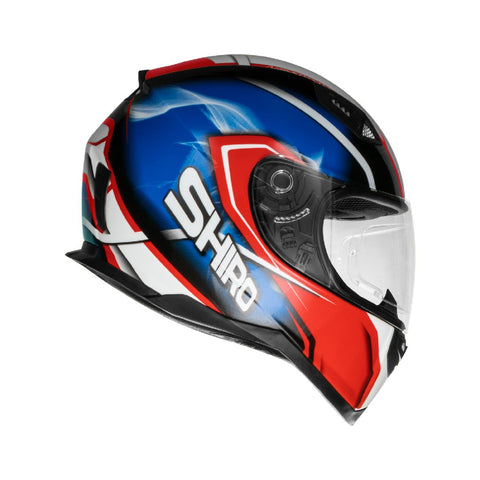 SHIRO SH-881 Motegi Gloss Red Blue Helmet