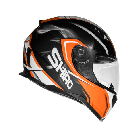 SHIRO SH-881 Motegi Matt Black Orange Helmet
