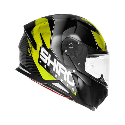 SHIRO SH-890 Infinity Gloss Black Yellow Helmet, Full Face Helmets, SHIRO, Moto Central