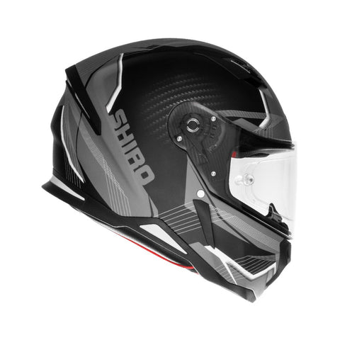 SHIRO SH-890 Losail Matt Black Grey Helmet