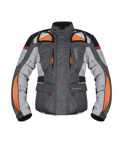 Rynox Stealth Evo v3 Level 2 Grey Riding Jacket, Riding Jackets, Rynox Gears, Moto Central