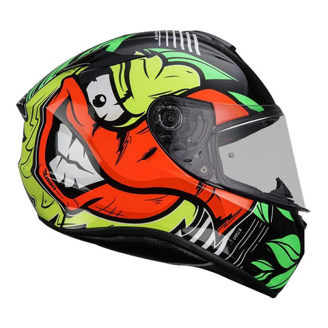 MT Targo Truck Gloss Fluro Yellow Helmet, Full Face Helmets, MT Helmets, Moto Central