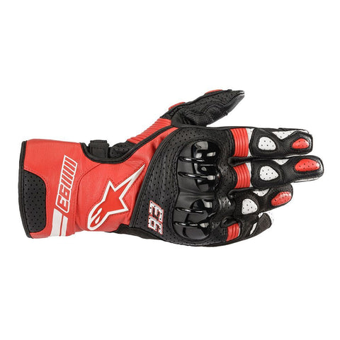 Alpinestars MM93 Twin Ring Leather Red Black White Gloves