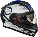 SMK Twister Blade Matt Black-Blue MA 256, Full Face Helmets, SMK, Moto Central