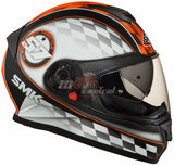 SMK Twister Blade Matt Black-Orange MA 276, Full Face Helmets, SMK, Moto Central