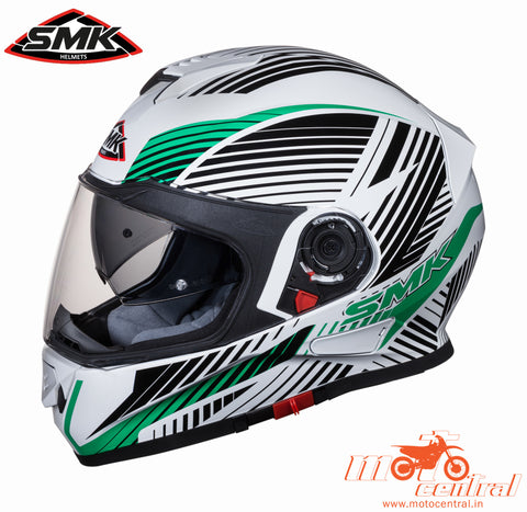 SMK Twister Fluid White Green 128, Full Face Helmets, SMK, Moto Central