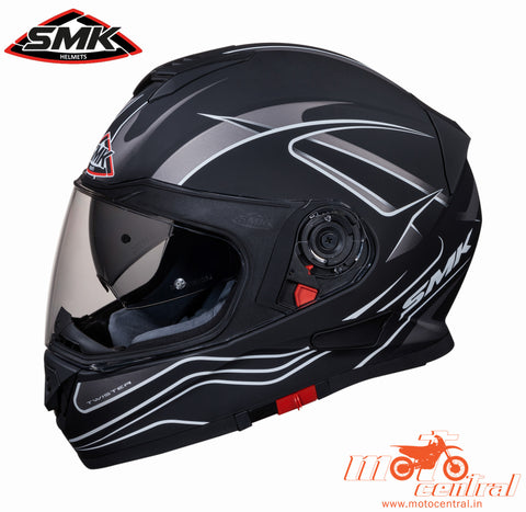 SMK Twister Splash Matt Black 261 Grey, Full Face Helmets, SMK, Moto Central