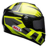Bell SRT Predator Hi-Vis Green-Black Helmet, Full Face Helmets, BELL, Moto Central