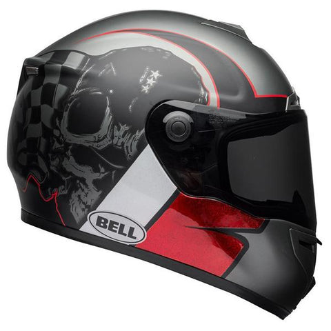 Bell SRT Hart Luck Charcoal White-Red Helmet, Full Face Helmets, BELL, Moto Central