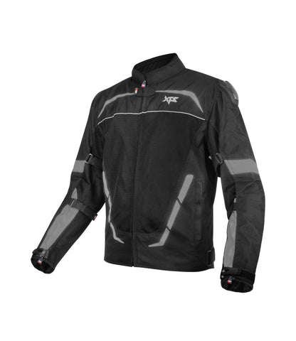 XTS Dynamo Black Grey Riding Jacket