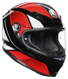 AGV K6 Hyphen Black/Red/White Gloss Helmet, Full Face Helmets, AGV, Moto Central
