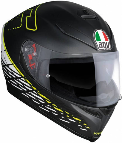 AGV K5-S THORN 46 Matt Black Yellow, Full Face Helmets, AGV, Moto Central