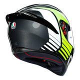 AGV K1 Power Gun Metal White Green Gloss Helmet, Full Face Helmets, AGV, Moto Central
