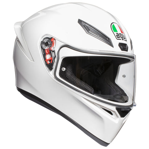 AGV K1 Solid White Helmet, Full Face Helmets, AGV, Moto Central
