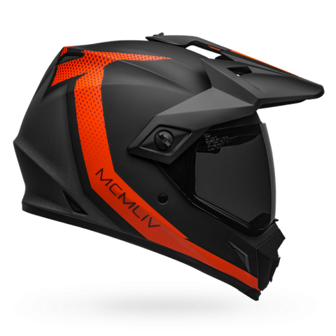 Bell MX-9 Adventure MIPS-Equipped Switchback Matt Black Fluro Orange Helmet, Full Face Helmets, BELL, Moto Central