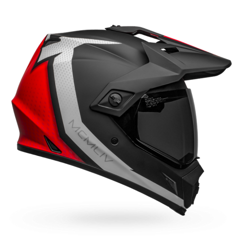 Bell MX-9 Adventure MIPS-Equipped Switchback Matt Black Red White Helmet, Full Face Helmets, BELL, Moto Central