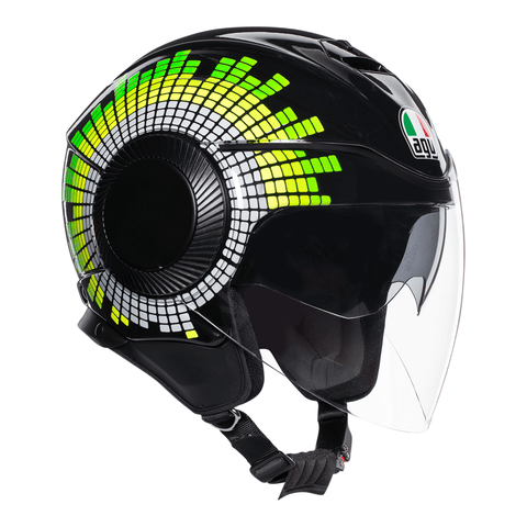 AGV Orbyt Ginza Black Yellow Green Helmet