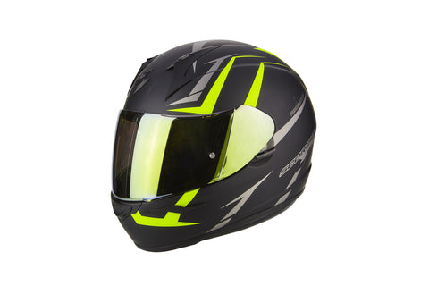 SCORPION EXO-390 Hawk Matt Black Neon Yellow, Full Face Helmets, Scorpion Exo, Moto Central
