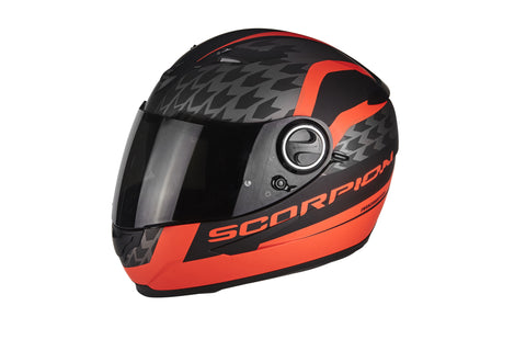 SCORPION EXO-490 Genesi Matt Black Neon Red, Full Face Helmets, Scorpion Exo, Moto Central