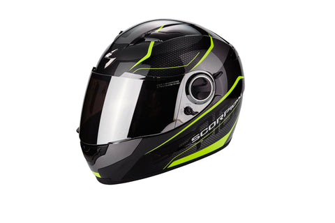 SCORPION EXO-490 Vision Gloss Black Yellow, Full Face Helmets, Scorpion Exo, Moto Central