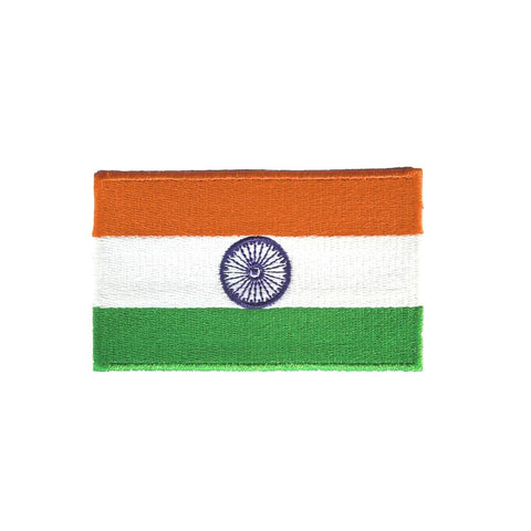 QUIPCO India Flag Patch Embroidered with Colored Borders, Accessories, QUIPCO, Moto Central