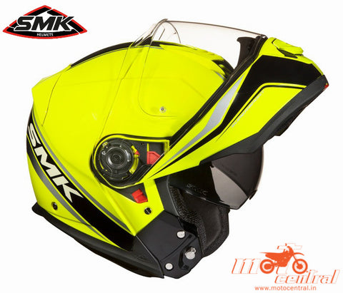 SMK Glide Flash Hi Vision 420, Flip Up Helmets, SMK, Moto Central