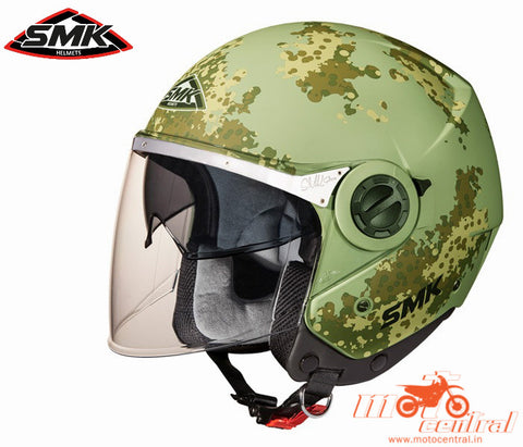 SMK Swing Game Matt Green 888, Open Face Helmets, SMK, Moto Central