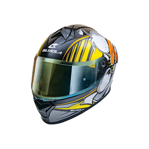 Bilmola Rapid S Duck Off White Yellow Gloss Helmet