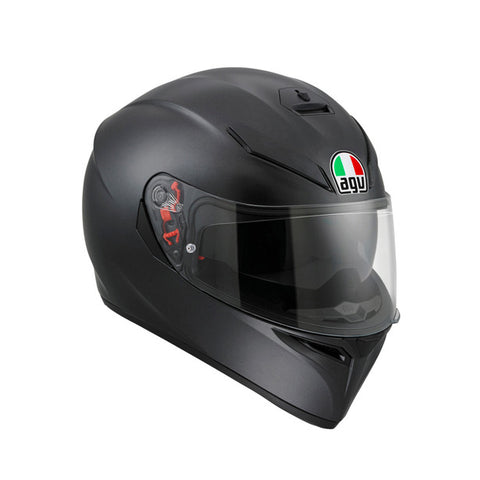 AGV K3-SV Solid Matt Black Helmet, Full Face Helmets, AGV, Moto Central