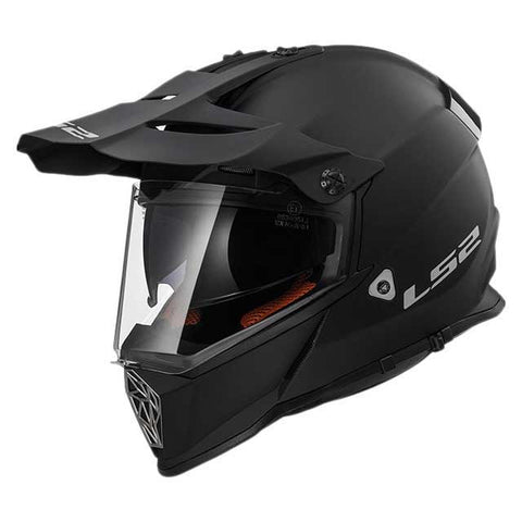 LS2 MX 436 Pioneer Matt Black Helmet, Full Face Helmets, LS2 Helmets, Moto Central