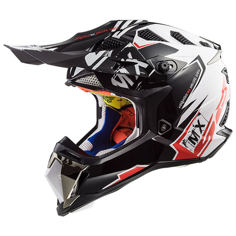 LS2 MX 470 Subverter Emperor Matt Black White Red Helmet, Full Face Helmets, LS2 Helmets, Moto Central