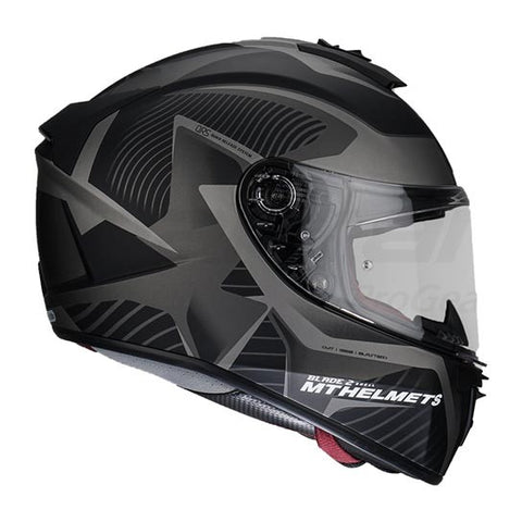 MT Blade 2 SV Blaster Matt Black-Grey Helmet, Full Face Helmets, MT Helmets, Moto Central