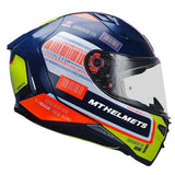 MT Revenge 2 RS Gloss Pearl Blue Helmet, Full Face Helmets, MT Helmets, Moto Central