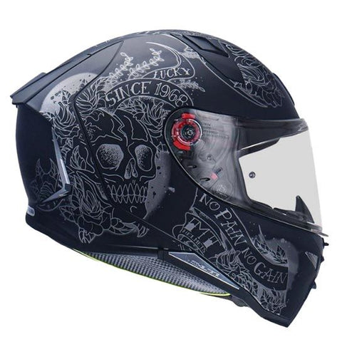 MT Revenge 2 Skull Roses Matt Black Helmet, Full Face Helmets, MT Helmets, Moto Central