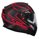 MT THUNDER 3 SV Storke Matt Black Red Helmet