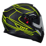 MT THUNDER 3 SV Storke Matt Black Fluro Yellow Helmet
