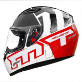 MT Mugello Strike Gloss White Black Red Helmet, Full Face Helmets, MT Helmets, Moto Central