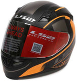 LS2 FF 391 Night Breaker Matt Black Orange Helmet, Full Face Helmets, LS2 Helmets, Moto Central