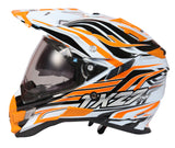 THH TX-27 Motocross Gloss White Orange Helmet